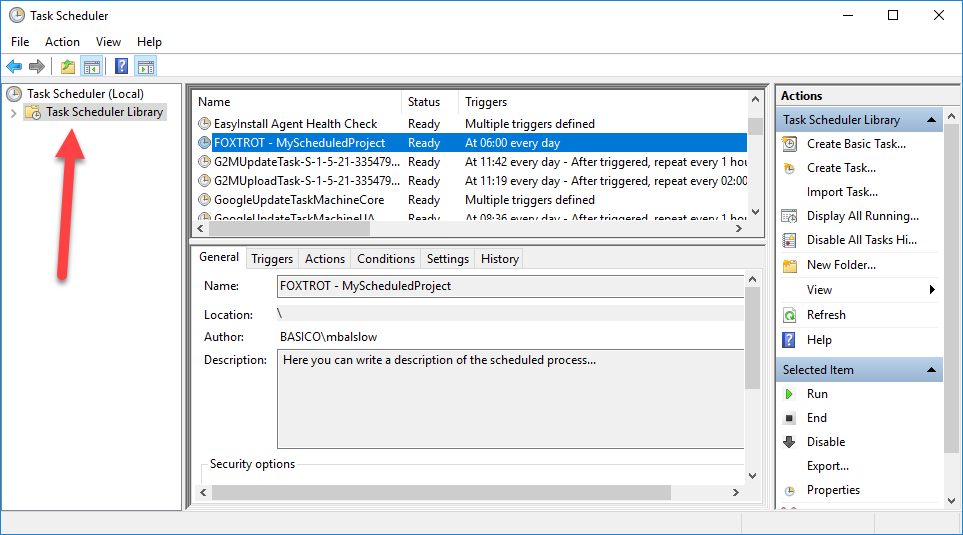 How-To Use Batch Files & Windows Task Scheduler – Foxtrot