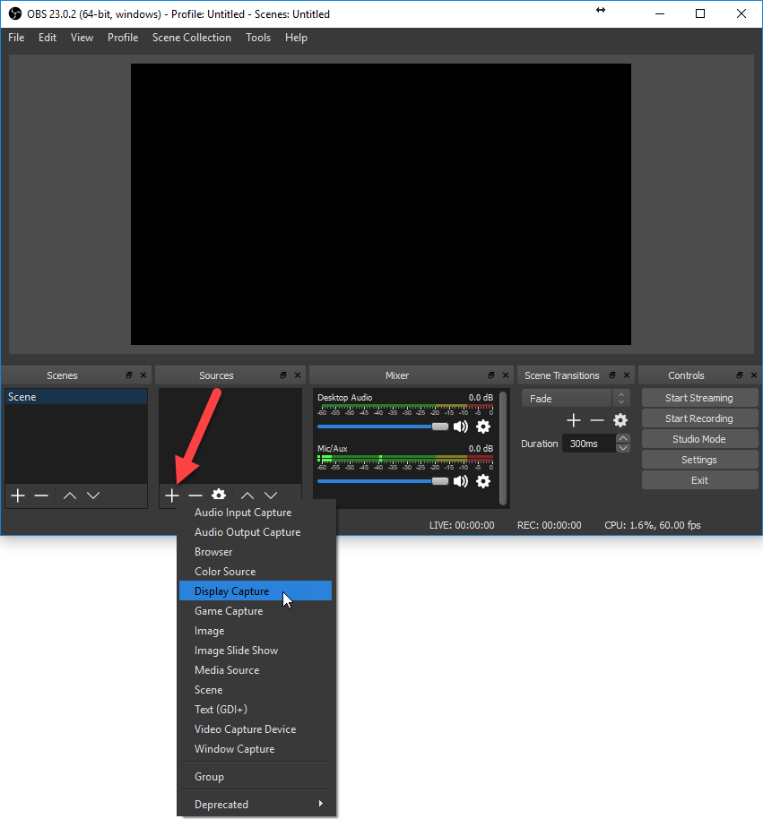 How-To Screen Record Using Foxtrot and Open Broadcaster