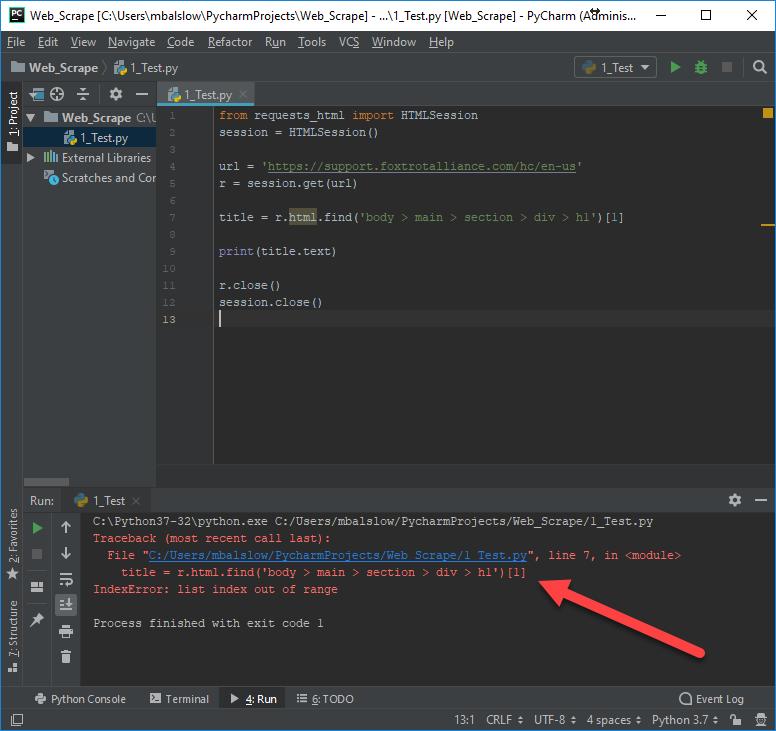 How-To Web Scrape Using Foxtrot & Python (Requests-HTML) – Foxtrot