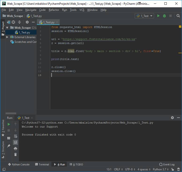 How-To Web Scrape Using Foxtrot & Python (Requests-HTML